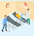 patients and doctor on hospital isometric vector image vector image
