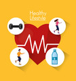 people healthy lifestyle design vector image