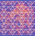 purple grunge texture with white triangles vector image