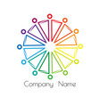rainbow logo sociocultural relations and equality vector image