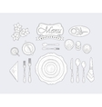 Restaurant Table Appointment vector image