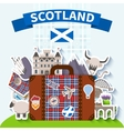 Scotland Travel Background vector image vector image