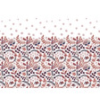 seamless border with folk flowers hand vector image