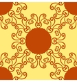 Seamless indian pattern on yellow texture vector image vector image