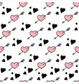 seamless pattern hearts stylish hipster vector image vector image