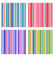 seamless vertical striped patterns set vector image