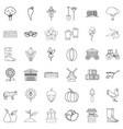 seed icons set outline style vector image vector image