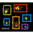 set of color rectangular frames with colo vector image vector image
