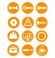 Set of repair tools icons in vector image vector image