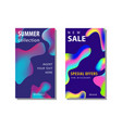 set sale banner background with fluid gradient vector image vector image