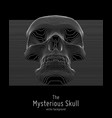 skull constructed with lines mysterious vector image vector image