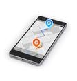 Smartphone Mobile Navigation vector image