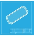 Ticket sign White section of icon on vector image vector image