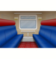 train compartment inside view vector image