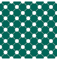 White Polka dot Chess Board Grid Teal Green vector image vector image