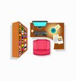 workspace interior icon vector image vector image