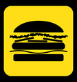 yellow black information sign - hamburger icon vector image vector image