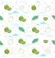 young coconut seamless pattern background vector image vector image