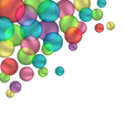 Bubbles isolated on white vector image