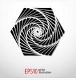 geometric hexagon sacred labyrinth vector image