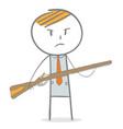 a man with gun vector image vector image