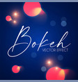 abstract blue background with bokeh effect vector image