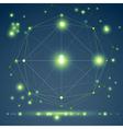 Abstract geometric 3D mesh object modern digital vector image