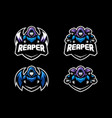 abstract reaper concept design template vector image