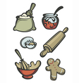 bakery collection vector image vector image
