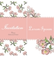 Beautiful floral invitation card with apple twig vector image vector image