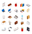 big set of 3d isometric volumetric of icons on a vector image vector image