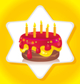 birthday iced cake vector image vector image