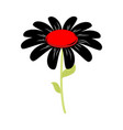 black flower isolated floret of sorrow and grief vector image vector image