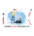 blood donation concept vector image vector image
