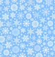 Blue seamless christmas background of flakes vector image vector image