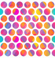 bright color circle seamless pattern vector image