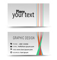 Business card color vector image vector image
