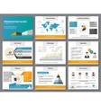 Business infographics presentation slides template vector image