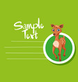 card template with cute deer vector image vector image