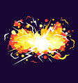 cartoon explosion background vector image vector image