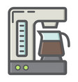 coffee maker colorful line icon kitchen appliance vector image