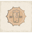 craft beer concept grunge label with needle vector image vector image