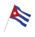 cuba national flag vector image