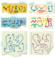 doodle arrows on papers vector image