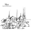 drawing sketch muri switzerland vector image
