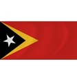 East Timor waving flag vector image vector image
