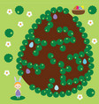 easter activity maze game egg hunting vector image