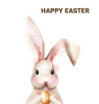 easter bunny rabbit cute pet holiday card vector image vector image
