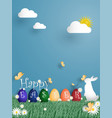 easter day greeting background vector image vector image