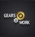 Elegant Gear Logo Design on Gray Background vector image vector image